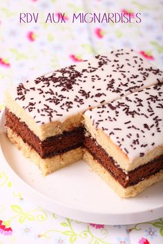 gateau napolitain to try Desserts With Biscuits, Sweet Desserts, Sweet Recipes, Delicious Desserts, Cake Recipes, Dessert Recipes, Yummy Food, Cupcakes, Cupcake Cakes