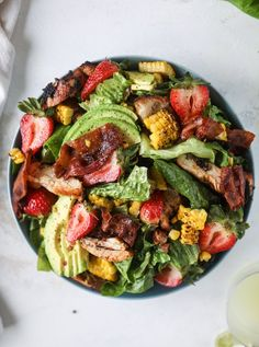 chipotle chicken cobb salad I howsweeteats.com #chipotle #chicken #cobb #salad #bacon #avocado #howsweeteats