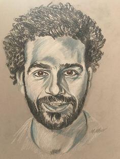 Egyptian Actress, Mo Salah, Mohamed Salah, Smart Art, Pencil Drawings, Football, King, Painting, Street