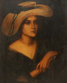 Portrait of a woman with a hat on