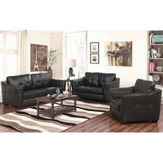 From Costco.com · Ellis 4 Piece Top Grain Leather Living Room Set
