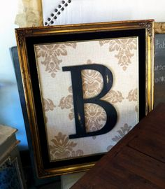 Vintage Frame with Letter B. For my ol' lady trapped in a toddler's body