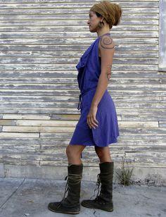 Gaia Conceptions Organic - Apron Wrap Short Dress, $150.00 (http://www.gaiaconceptions.com/apron-wrap-short-dress/)
