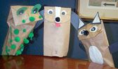 Use ordinary brown paper bags to make these delightful puppets. Family Calendar, Event Calendar, Homemade Puppets, Paper Bag Puppets, Big Show, Theatres, Paper Bags, Brown Paper, Bag Making