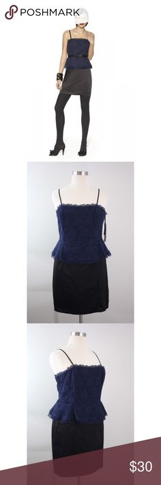 "Kate Young for Target Blue Lace Peplum Shift Dress NWT Kate Young for Target Navy Blue Lace Peplum Shift Dress Corset Bodice. Belt not included.  Measurements (flat / un-stretched): Tagged Size: 16 Bust: 37"" Waist: 36"" Length (shoulder to hem): 36"" Kate Young Dresses"