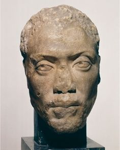 This marvelous bust is one of the very few documents of an actual black person from Greek and Roman antiquity. Memnon was a pupil & protégé of the well-known Athenian entrepreneur & philosopher Herodes Atticus.