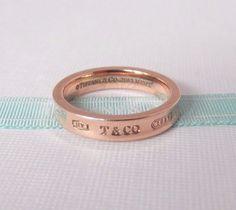 7aa837273 Tiffany & Co Size 7 Rubedo Metal 1837 NY Narrow Ring Band with Pouch   eBay