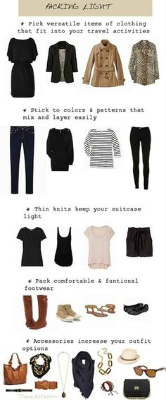 Pack layers and clothes that all coordinate. | 27 Things Every Woman Business Traveler Should Know