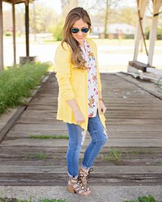 I like the cardigan but not in that color.  Not a fan of yellow.  Makes me look washed out.