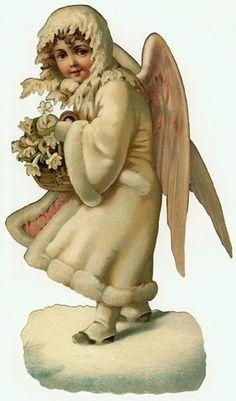 vintage snow angel