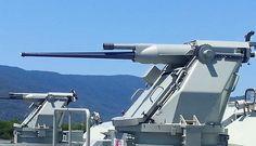 Typhoon Gun, mounted on Armidale-Class Gun Turret, Australian Defence Force, Royal Australian Navy, Naval, Army Vehicles, Fire Powers, Big Guns, Navy Ships, Military Weapons