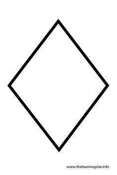 free diamond templates and printable rhombus shapes for your artwork
