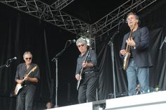 10cc on stage in the Bents Park 2014