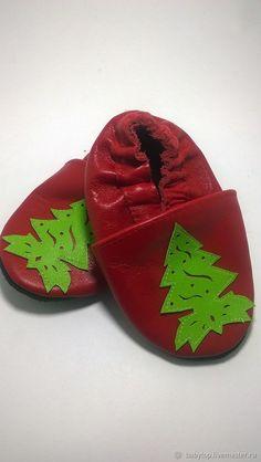 """Купить Кожаные тапочки""""Елочка"""" (oт0-11лет) ,чешки,домашняя обувь в интернет магазине на Ярмарке Мастеров"""