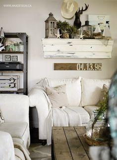 Pretty family room decor ideas!