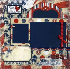 12x12+Premade+Scrapbook+Page++Every+Heart+by+SusansScrapbookShack,+$16.95