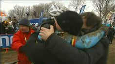 sporza: Sven Nys after the finish line