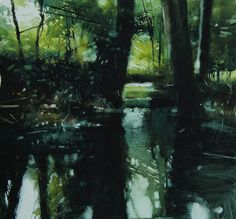 David Parfitt, Landscape painter based in the West Country UK. Acrylic, Oil and Watercolour paintings. Paintings of Bath, West Country Landscapes, the coast and Cornwall. Watercolor Water, Watercolor Trees, Watercolor Landscape, Abstract Landscape, Landscape Paintings, Watercolor Painting, Illusion Photos, River Painting, Pictures To Draw
