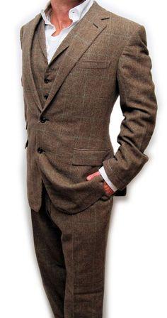 eBay  Sponsored Polo Ralph Lauren Purple Label Mens Cashmere 3-Piece Suit  Brown Italy Plaid 42L 0f1689ff3ebe