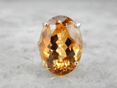 nice Bague - Tendance 2017/2018  : Exceptional Citrine Gemstone Cocktail Ring...