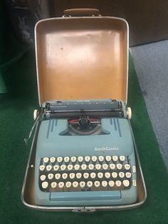 SMITH-CORONA STERLING Vintage METAL 1950s Portable Typewriter w/ Orig Hard Case! #SmithCorona
