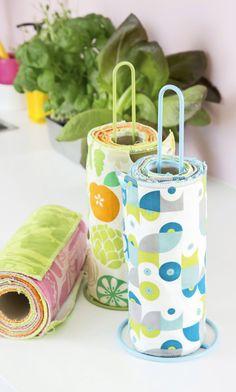 Kestotalouspaperi – katso ohje! | Meillä kotona Toothbrush Holder, Diy, Bricolage, Do It Yourself, Homemade, Diys, Crafting