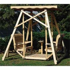 Canopy Glider Swing Woodworking Plan #furnitureplans #woodworkingprojects #woodworkingtips