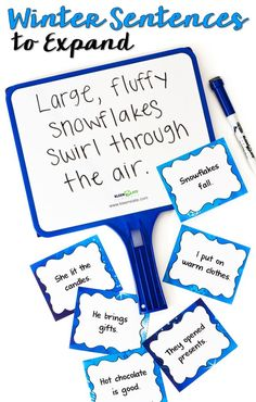 Sentence Practice Freebie! Banish run-on sentences and fragments forever! Use these free Winter Sentences to Expand task cards to teach kids how easy it is to write more interesting sentences!