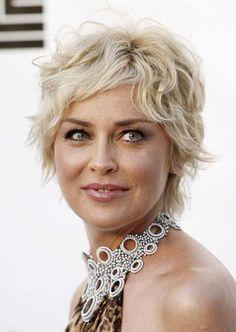 Sharon Stone Short Hair