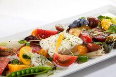 Our Heirloom Tomato Burrata Salad.
