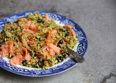 Salmon broccoli salad