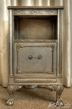 my French country gray chalk paint furniture is looking a bit drab lately. I am thinking of going shiny. Decor, Furniture Diy, Silver Painted Furniture, Paint Furniture, Furniture Projects, Painted Furniture, Furniture Inspiration, Redo Furniture, Refinishing Furniture