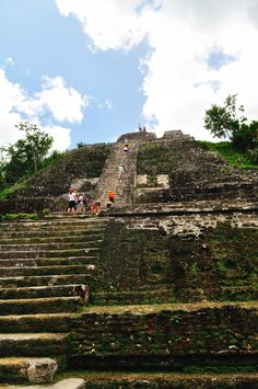 "Lamanai, which was once a considerably sized Mayan city has the distinction of being a Mayan archeological ruins area that for the most part is barely uncovered.  Lamanai is located in northern Belize.  Its major landmark is its ""High Temple"" which towers at 33 meters tall http://twitter.com/ChichenItzaBob"