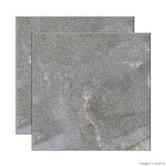 Garagem- Porcelanato Piacentina 60x60cm grigio Buschinelli - Telhanorte