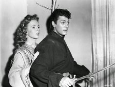 "Vintage Glamour Girls: Piper Laurie & Tony Curtis in "" Son Of Ali Baba """