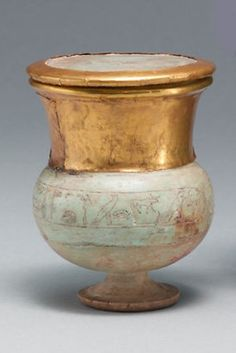 Wide-necked jar and lid naming Thutmose III. New Kingdom, 18th Dynasty, reign of Thutmose III, ca. 1479-1425 B.C.:
