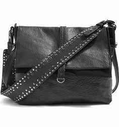 Main Image - Topshop Premium Leather Studded Calfskin Hobo Bag