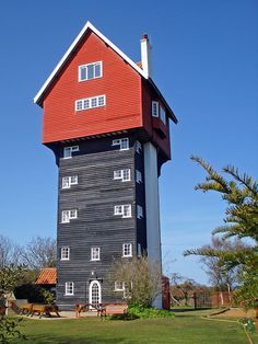 The strange yet glorious 'House in the Clouds' in the upmarket holiday village of Thorpeness, Suffolk. www.bradtguides.com