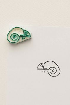 Tiny baby chameleon stamp Funny lizard stationary by WoodlandTale Funny Lizards, Baby Lizards, Baby Chameleon, Eraser Stamp, Cute Stationary, Stamp Carving, Handmade Stamps, Funny Gifts, Gag Gifts