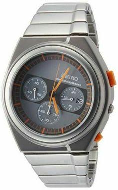 Seiko Spirit Gray Men's Watch - SCED057 for sale online | eBay Cool Watches, Watches For Men, Casio G Shock, Smartwatch, Seiko, Stainless Steel Case, Chronograph, Omega Watch, Quartz