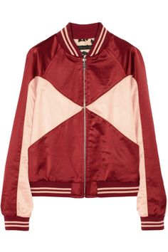 Marc by Marc Jacobs|Paneled satin bomber jacket|NET-A-PORTER.COM    I am in Love with this jacket!!!!