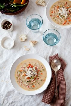 Crab Soup by tartelette, via Flickr  - GF but will have to do subs for dairy.  Can't wait to try it!
