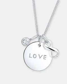 Necklace Infinity Swarovski Crystals 925 Silver