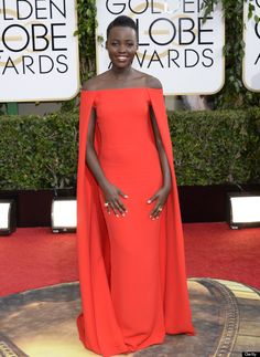 Golden Globes 2014: Lupita Nyungo in Ralph Lauren (also my choice for best dressed of the night)