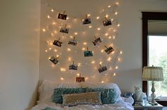 DIY String Lights with Clothespin Photos