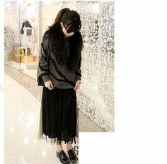 Vestido Maxidress Negro *moda Asiatica* - $ 1.00