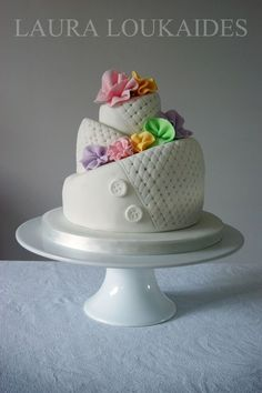 Whimsical Topsy Turvy Quilted Cake