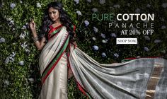 Crisp yet comfortable, dainty yet delightful, traditional yet fancy too, cotton sarees are sarees of all occasions. Available in a variety of designs, colors, patterns and looks, cotton sarees vary in look and feel depending on their weave and the part of the country they belong to.