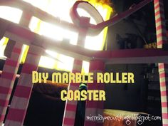 I'm a proud crafter: DIY Science Project: Marble Roller Coaster Cool Science Experiments, Stem Science, Science Fair Projects, Preschool Science, Physical Science, Teaching Science, Science For Kids, School Projects, Physics Projects