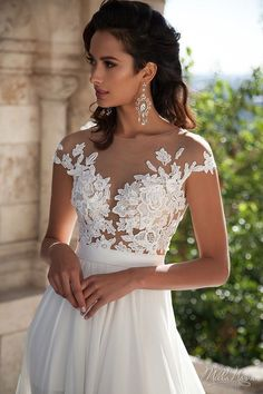 XGSD Womens Beach Wedding Dress Sexy White/Ivory Chiffon Lace Wedding Dress Long Tail Aline Bridal Gown Vestido De Noiva >>> Would like to know a lot more, click the photo. (This is an affiliate link). Chiffon Wedding Gowns, Ivory Lace Wedding Dress, White Wedding Dresses, Bridal Gowns, Prom Dresses, Dresses 2016, Tulle Lace, Gown Wedding, Lace Fabric